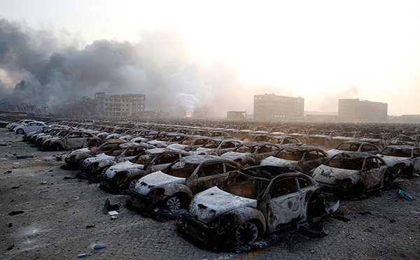 10 000 voitures détruites à Tianjin - Photo n°3