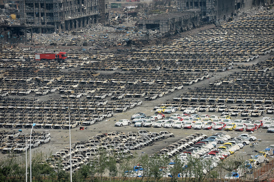 10 000 voitures détruites à Tianjin - Photo n°5