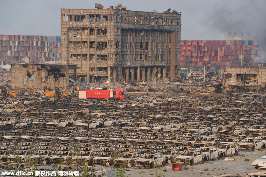 10 000 voitures détruites à Tianjin - Photo n°6