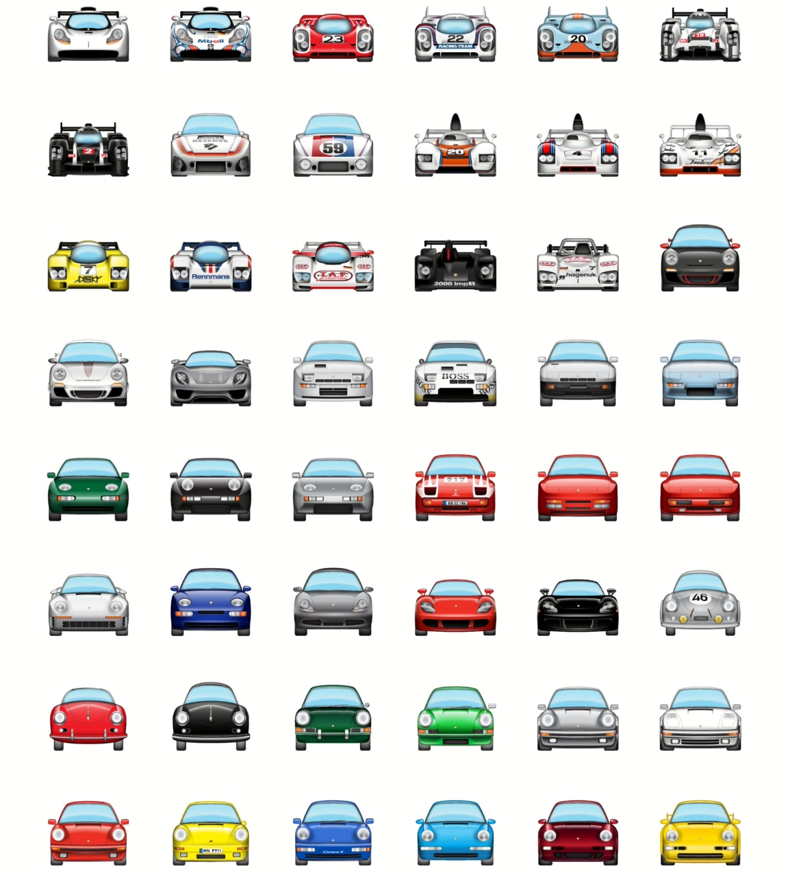 Des Emoji pour Porsche enthousiastes ! - Photo n°1