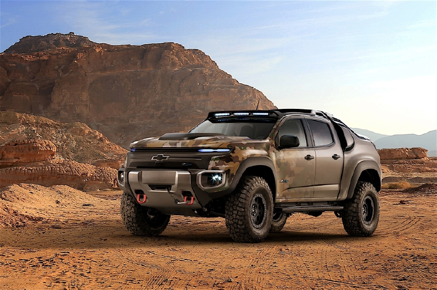 Chevrolet séduit l'US Army avec un pick-up hydrogène - Photo n°1