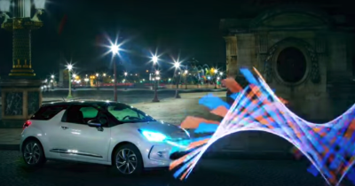 Du light painting pour la DS3 by night !