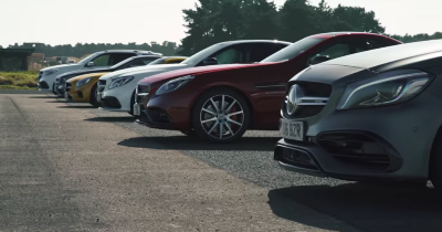Les Mercedes AMG se mesurent au quarter mile !